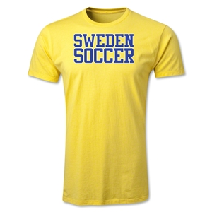 Sweden Soccer Supporter Men's Fashion T-Shirt (Yellow)