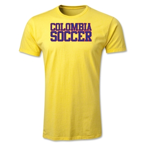 Colombia Soccer Supporter Men's Fashion T-Shirt (Yellow)