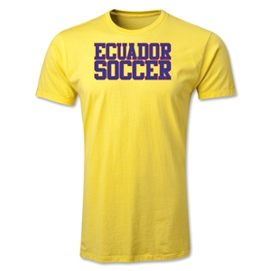 Ecuador Soccer Supporter Men's Fashion T-Shirt (Yellow)