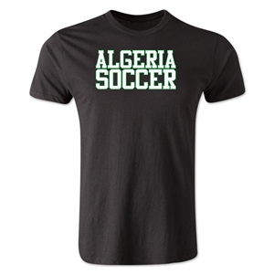 Algeria Soccer Supporter Men's Fashion T-Shirt (Black)
