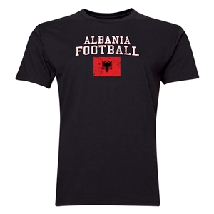 Albania Football T-Shirt (Black)