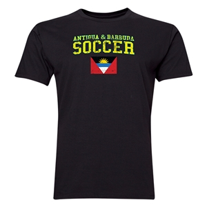 Antigua & Barbuda Soccer T-Shirt (Black)