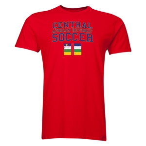 Central African Republic Soccer T-Shirt (Red)