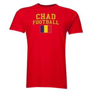 Chad Football T-Shirt (Red)