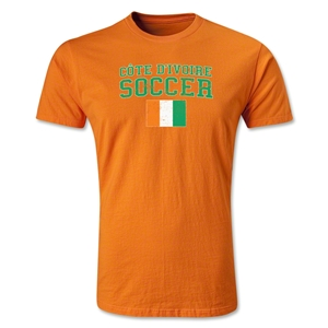 Cote d'Ivoire Soccer T-Shirt (Orange)