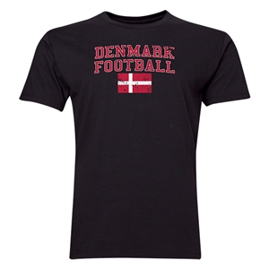 Denmark Football T-Shirt (Black)
