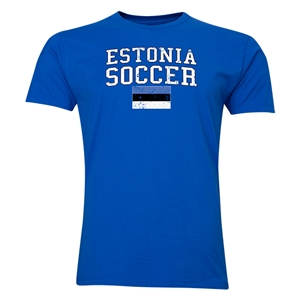 Estonia Soccer T-Shirt (Royal)
