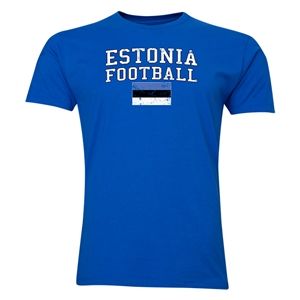 Estonia Football T-Shirt (Royal)