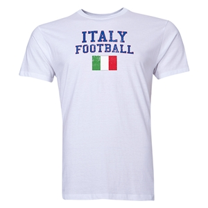 Italy Football T-Shirt (White)