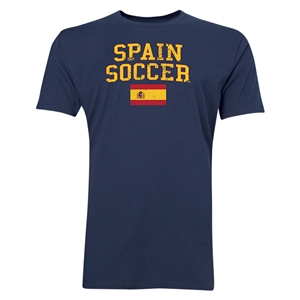 Spain Soccer T-Shirt (Navy)