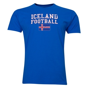 Iceland Football T-Shirt (Royal)