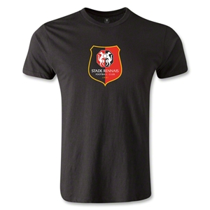 Stade Rennais FC Crest Men's Fashion T-Shirt (Black)