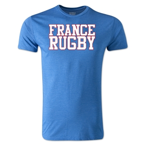 France Supporter Rugby T-Shirt (Heather Royal)