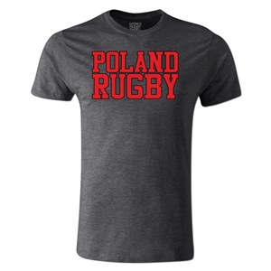 Poland Supporter Rugby T-Shirt (Dark Gray)