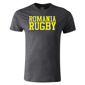 Romania Supporter Rugby T-Shirt (Dark Gray)