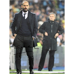 Signed Pep Guardiola Pep v. Jose Photo