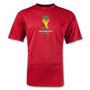 2014 FIFA World Cup Brazil(TM) Emblem Training T-Shirt (Red)