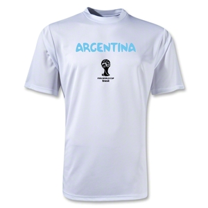 Argentina 2014 FIFA World Cup Brazil(TM) Men's Core Training T-Shirt (White)