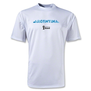 Argentina 2014 FIFA World Cup Brazil(TM) Men's Palm Training T-Shirt (White)