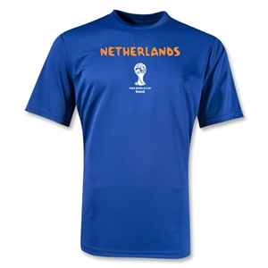 Netherlands 2014 FIFA World Cup Brazil(TM) Men's Core Training T-Shirt (Royal)