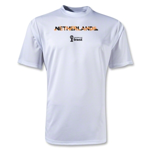 Netherlands 2014 FIFA World Cup Brazil(TM) Men's Palm Training T-Shirt (White)