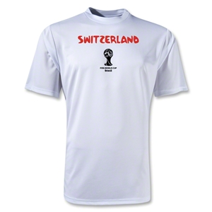 Switzerland 2014 FIFA World Cup Brazil(TM) Men's Core Training T-Shirt (White)