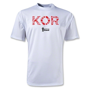 South Korea 2014 FIFA World Cup Brazil(TM) Training Core T-Shirt (White)