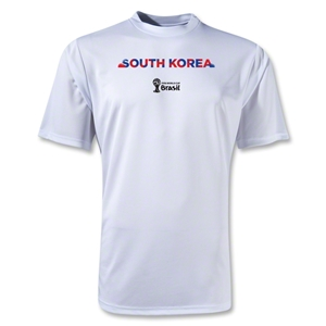 South Korea 2014 FIFA World Cup Brazil(TM) Men's Palm Training T-Shirt (White)