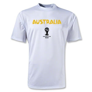 Australia 2014 FIFA World Cup Brazil(TM) Men's Core Training T-Shirt (White)