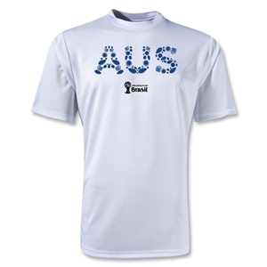 Australia 2014 FIFA World Cup Brazil(TM) Men's Elements Training T-Shirt (White)