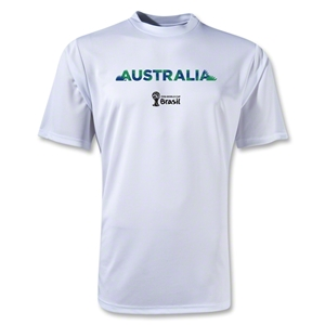 Australia 2014 FIFA World Cup Brazil(TM) Men's Palm Training T-Shirt (White)