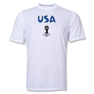 USA 2014 FIFA World Cup Brazil(TM) Men's Core Training T-Shirt (White)