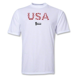 USA 2014 FIFA World Cup Brazil(TM) Men's Elements Training T-Shirt (White)