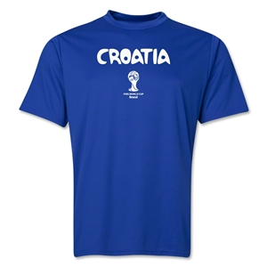 Croatia 2014 FIFA World Cup Brazil(TM) Men's Core Training T-Shirt (Royal)