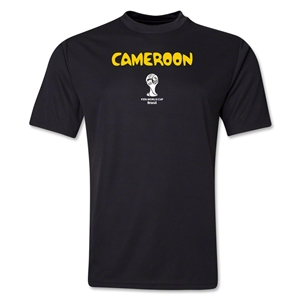 Cameroon 2014 FIFA World Cup Brazil(TM) Men's Core Training T-Shirt (Black)