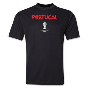 Portugal 2014 FIFA World Cup Brazil(TM) Men's Core Training T-Shirt (Black)