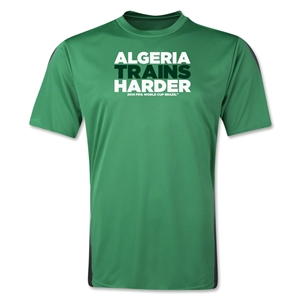Algeria 2014 FIFA World Cup Brazil(TM) Men's Trains Harder T-Shirt (Green)