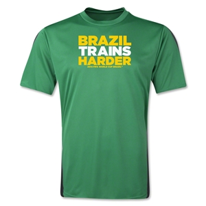 Brazil 2014 FIFA World Cup Brazil(TM) Men's Trains Harder T-Shirt (Green)