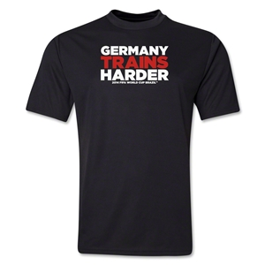 Germany 2014 FIFA World Cup Brazil(TM) Men's Trains Harder T-Shirt (Black)