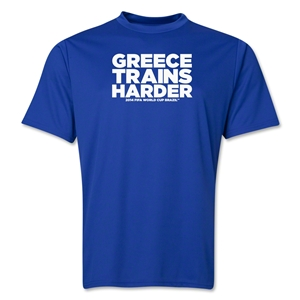 Greece 2014 FIFA World Cup Brazil(TM) Men's Trains Harder T-Shirt (Royal)