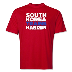 South Korea 2014 FIFA World Cup Brazil(TM) Men's Trains Harder T-Shirt (Red)