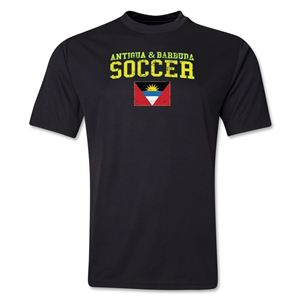 Antigua & Barbuda Soccer Training T-Shirt (Black)
