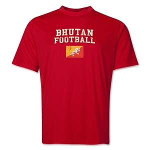 Bhutan Football Training T-Shirt (Red)