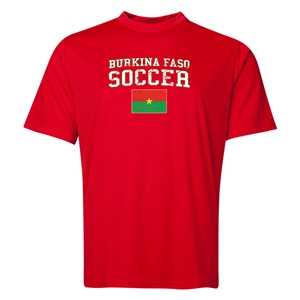 Burkina Faso Soccer Training T-Shirt (Red)