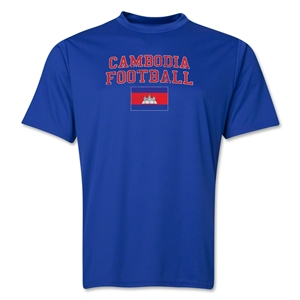 Cambodia Football Training T-Shirt (Royal)