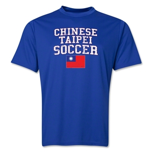 Chinese Taipei Soccer Training T-Shirt (Royal)