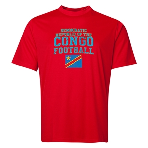 Congo DR Football Training T-Shirt (Red)