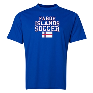 Faroe Islands Soccer Training T-Shirt (Royal)