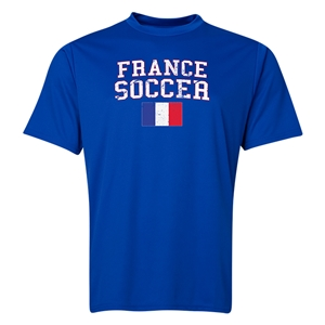 France Soccer Training T-Shirt (Royal)