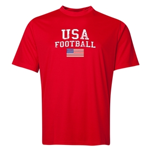 USA Football Training T-Shirt (Red)